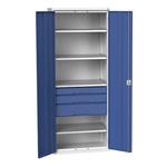 Bott 2 Door Steel Lockable Floor Standing Storage Cabinet, 2000 x 800 x 550mm