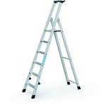 Zarges Aluminium 6 steps Step Ladder, 1.26m platform height, 1.86m open length