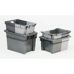 Schoeller Allibert 50L Grey PE Large Storage Box, 300mm x 400mm x 600mm