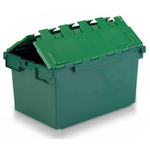Schoeller Allibert 80L Green PP Large Folding Crate, 374mm x 460mm x 720mm