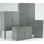 RS PRO Grey Steel Lockable 2 Doors COSHH Cabinets, 1219mm x 915mm x 457mm