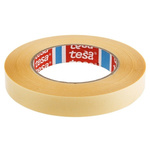 Tesa 64621 White Double Sided Plastic Tape, 19mm x 50m