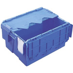 Schoeller Allibert 18L Blue PP Medium Folding Crate, 400mm x 300mm x 222mm