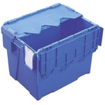 Schoeller Allibert 25L Blue PP Medium Folding Crate, 400mm x 300mm x 306mm