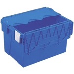 Schoeller Allibert 65L Blue PP Large Folding Crate, 600mm x 400mm x 365mm