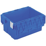 Schoeller Allibert 54L Blue PP Large Folding Crate, 600mm x 400mm x 306mm