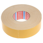 Tesa 4964 White Double Sided Cloth Tape, 50mm x 50m