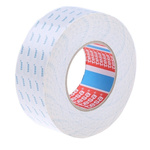 Tesa 4943 White Double Sided Cloth Tape, 50mm x 50m