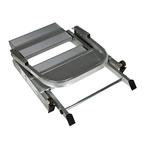 RS PRO 2 Tread Aluminium Steps 0.44m Platform Height, Silver