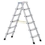Zarges Aluminium 2 x 6 steps Step Ladder, 1.3m open length
