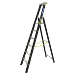 Zarges Aluminium 6 steps Step Ladder, 1.59m platform height