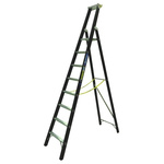 Zarges Aluminium 8 steps Step Ladder, 2.12m platform height