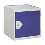 RS PRO 1 Door Steel Blue Storage Locker, 380 mm x 380 mm x 380mm
