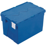 Schoeller Allibert 70L Blue PP Large Folding Crate, 400mm x 600mm x 400mm