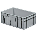 Schoeller Allibert Grey Stacking Container, 120mm x 300mm x 200mm