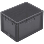 Schoeller Allibert 20L Grey Medium Stacking Container, 235mm x 400mm x 300mm