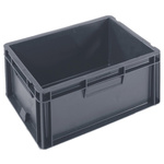 Schoeller Allibert 15L Grey Small Stacking Container, 175mm x 400mm x 300mm