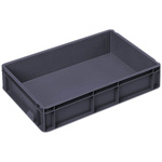 Schoeller Allibert 21L Grey Medium Stacking Container, 120mm x 600mm x 400mm