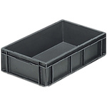 Schoeller Allibert 28L Grey PP Medium Stacking Container, 150mm x 600mm x 400mm