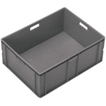 Schoeller Allibert 60L Grey PE7 Large Stacking Container, 319mm x 600mm x 400mm
