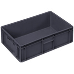 Schoeller Allibert 34L Grey Medium Stacking Container, 175mm x 600mm x 400mm