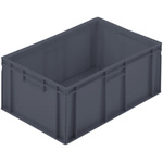 Schoeller Allibert 45L Grey Large Stacking Container, 235mm x 600mm x 400mm
