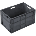 Schoeller Allibert 75L Grey Large Stacking Container, 400mm x 600mm x 400mm