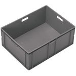 Schoeller Allibert 125L Grey Stacking Container, 319mm x 800mm x 600mm