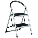 RS PRO 2 Tread Steel Steps 0.49m Platform Height, Silver Grey