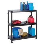 RS PRO Black 3 Shelf Shelving Unit, 970mm x 900mm x 400mm, 50kg Load