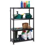 RS PRO Black 4 Shelf Shelving Unit, 1400mm x 900mm x 400mm, 50kg Load