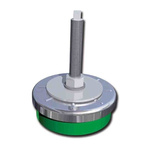 FIBET Adjustable Levelling Foot ZAL20060V170 M20 138mm, 200mm Dia. Natural Rubber, Steel 4000kg Static Load Capacity 0°