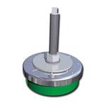 FIBET Adjustable Levelling Foot ZAL8035V120 M12 98mm, 80mm Dia. Natural Rubber, Steel 500kg Static Load Capacity 0°