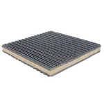 100mm Anti Vibration Mat 75psi Cork +100°C -50°C 100 x 100mm 22mm