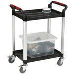RS PRO 2 Shelf Aluminium Trolley Trolley, 630 x 424mm, 100kg Load