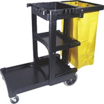 Rubbermaid Commercial Products 3 Shelf PP Trolley Cart