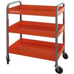 Bahco 3 Shelf Aluminium Workshop Trolley, 1315 x440 x1025mm, 30 (per shelf)kg Load