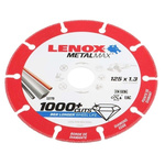 Lenox Aluminium Oxide Cutting Disc, 125mm x 1.3mm Thick, Fine Grade, P120 Grit