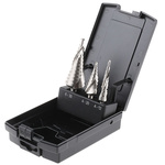 EXACT 3 piece Metal Step Drill Bit Set, 4mm to 30mm