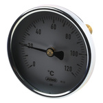 Jumo Immersion Dial Thermometer 0 → +120 °C, 608001/0180-818-913-12-104-46-46-50/000