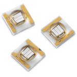 15335340AA350 Wurth Elektronik, WL-SUMW Series UV LED, 405 (Typ.)nm 1100mW 130 (Typ.) °, 2-Pin Surface Mount package