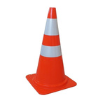 RS PRO Weighted Orange, White 750 mm PP Traffic Cone