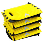 RS PRO Yes Black, Yellow Polyurethane Speed Bump, 250mm 300 mm 25 mm