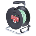 RS PRO Green Test Lead Extension Reel, 50m Cable Length