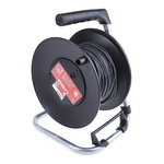 RS PRO Black Test Lead Extension Reel, 50m Cable Length