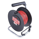 RS PRO Red Test Lead Extension Reel, 50m Cable Length