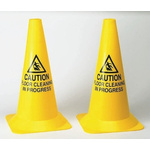 JSP Yellow 500 mm PVC Safety Cone