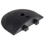 RS PRO Black Rubber Speed Bump End Cap, 305mm 57 mm 250 mm