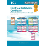 Kewtech Corporation TC1 Electrical Installation Certificate, Certificate Type Electrical Installation, For Use With