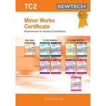 Kewtech Corporation TC2 Electrical Installation Certificate, Certificate Type Electrical Installation, Minor Works, For